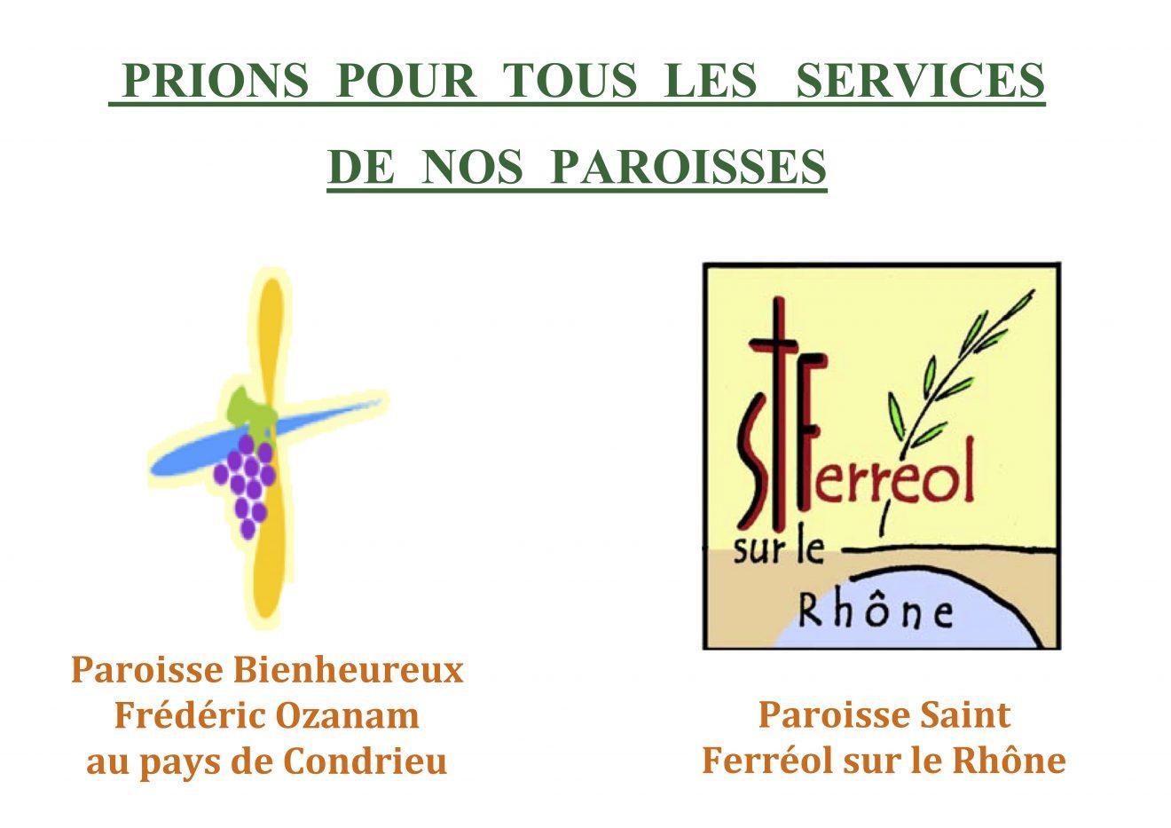 Prions pour toutes les activités de nos paroisses