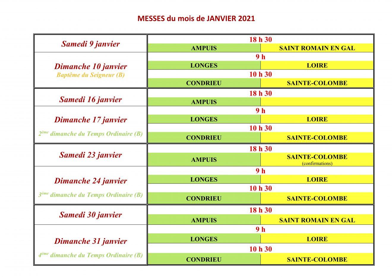 Paroisses Saint-Ferréol et Frédéric Ozanam Janvier 2021