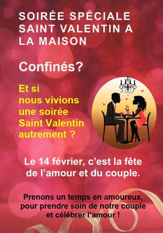 Saint Valentin 2021: Proposition pour cette année !