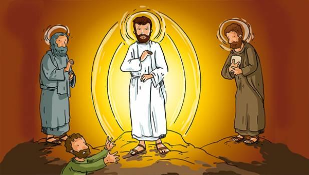 La Transfiguration : Jésus prend avec lui Pierre, Jacques et Jean